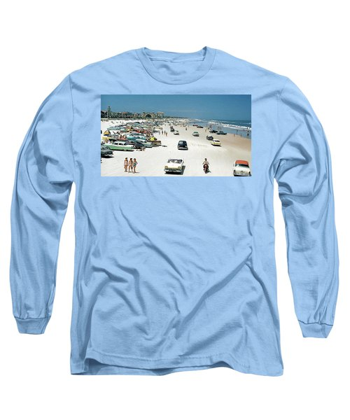 Daytona Beach Florida - 1957 Long Sleeve T-Shirt