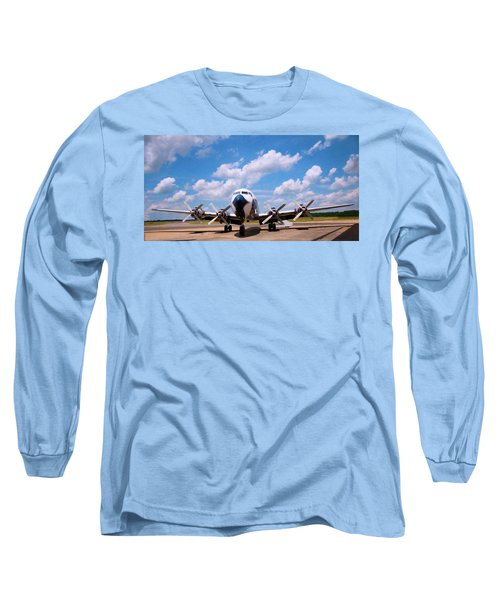 Long Sleeve T-Shirt featuring the digital art Dc 7 by Chris Flees