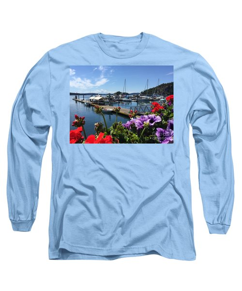 Long Sleeve T-Shirt featuring the photograph Deer Harbor By Day by William Wyckoff