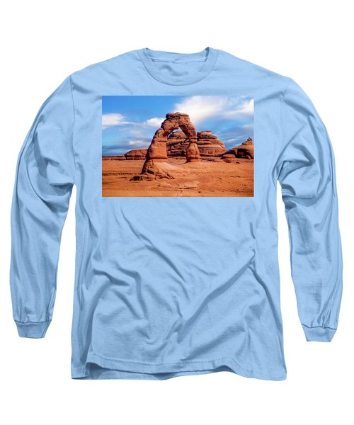 Delicate Arch From Lower Viewpoint Long Sleeve T-Shirt