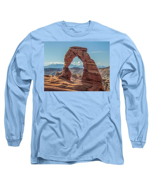 Delicate Arch In Early Morning Long Sleeve T-Shirt
