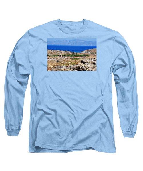 Delos Island View Of Agean Long Sleeve T-Shirt