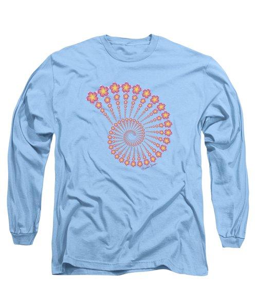 Denise's Frangipani  Spiral Shell Long Sleeve T-Shirt