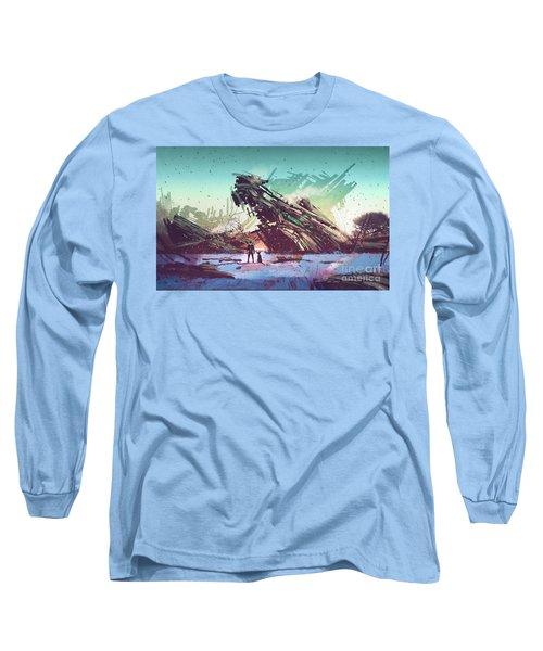Derelict Ship Long Sleeve T-Shirt