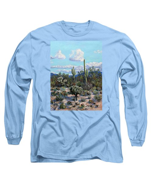 Long Sleeve T-Shirt featuring the painting Desert Landscape by M Diane Bonaparte