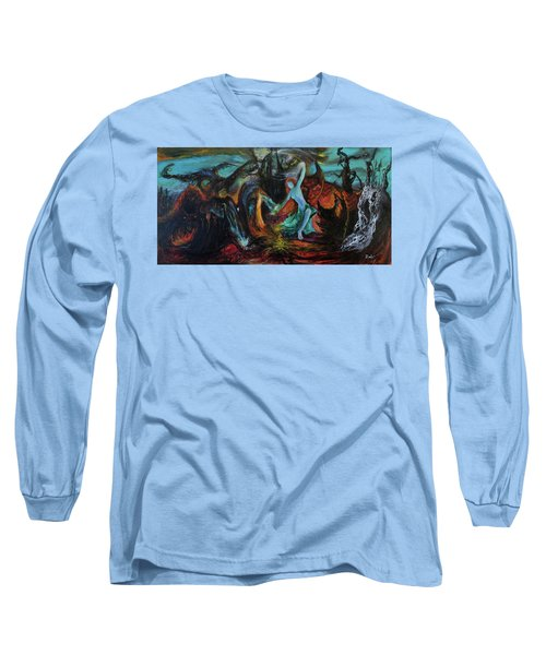 Long Sleeve T-Shirt featuring the painting Devils Gorge by Christophe Ennis