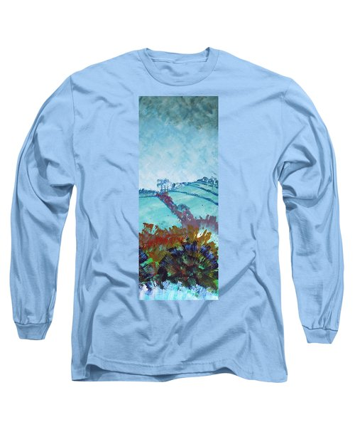 Devon Landscape Painting - Hills Near Exeter Long Sleeve T-Shirt