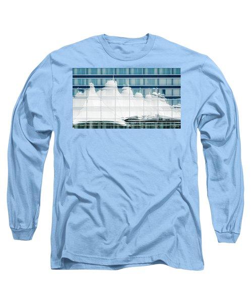 Long Sleeve T-Shirt featuring the photograph Dia Hotel Reflection by Joe Bonita