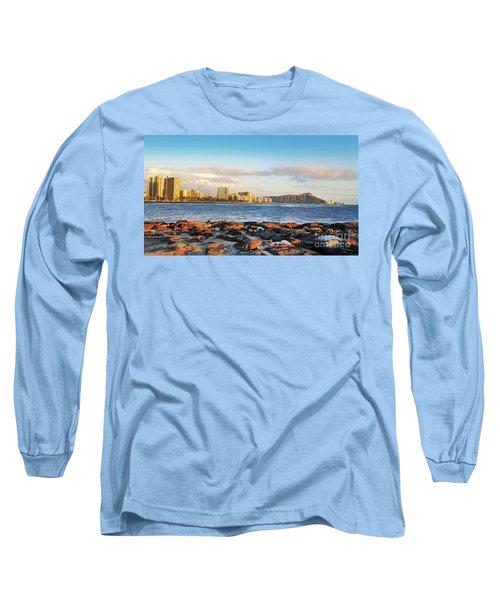 Long Sleeve T-Shirt featuring the photograph Diamond Head, Waikiki by Kristine Merc