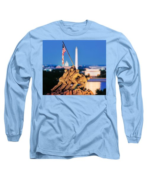 Digital Composite, Iwo Jima Memorial Long Sleeve T-Shirt by Panoramic Images