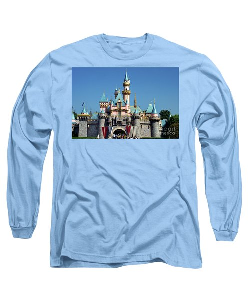 Long Sleeve T-Shirt featuring the photograph Disneyland Castle by Mariola Bitner