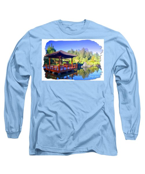 Do-00003 Shinden Style Pavilion Long Sleeve T-Shirt by Digital Oil