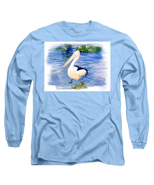 Long Sleeve T-Shirt featuring the photograph Do-00088 Pelican by Digital Oil