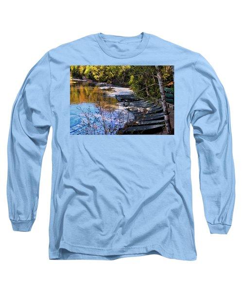 Docked Row Boats Long Sleeve T-Shirt