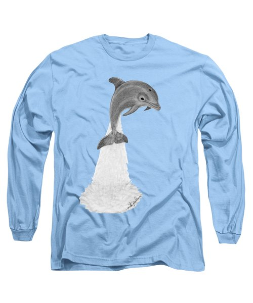 Dolphin #2 Long Sleeve T-Shirt by Rita Palmer