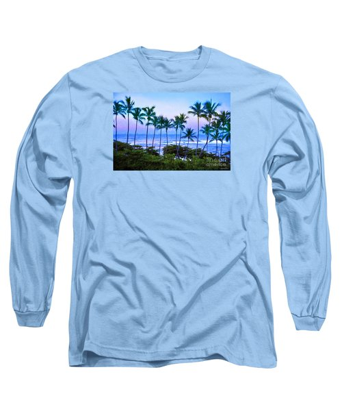 Dominican Palms Twilight Long Sleeve T-Shirt by Linda Olsen