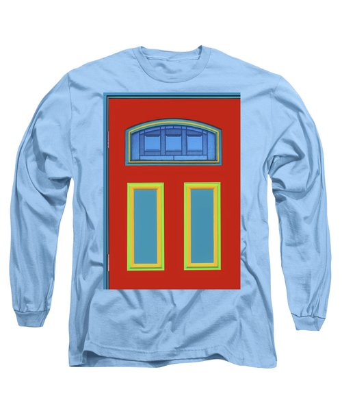 Door - Primary Colors Long Sleeve T-Shirt by Nikolyn McDonald