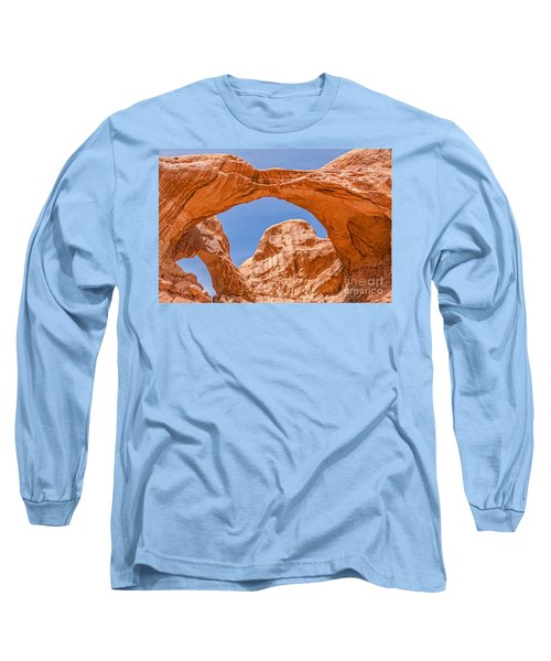 Long Sleeve T-Shirt featuring the photograph Double Arch At Arches National Park by Sue Smith