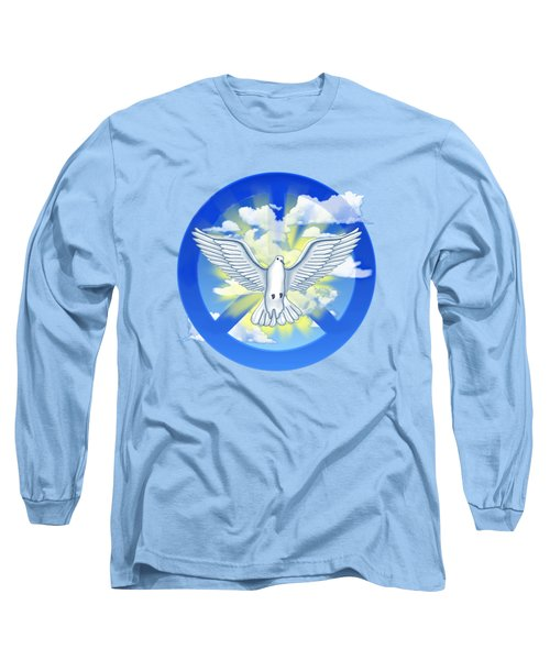 Dove Of Peace Long Sleeve T-Shirt by Chris MacDonald