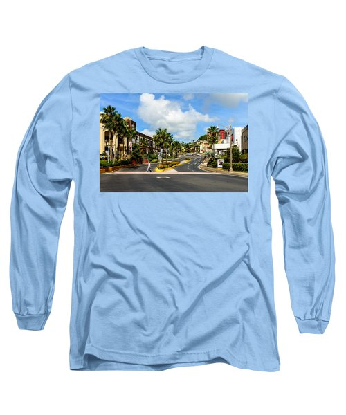 Downtown Tamuning Guam Long Sleeve T-Shirt