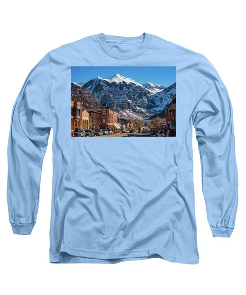 Downtown Telluride Long Sleeve T-Shirt by Darren White