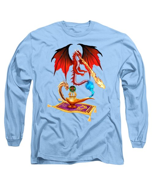 Dragon Genie Long Sleeve T-Shirt by Glenn Holbrook