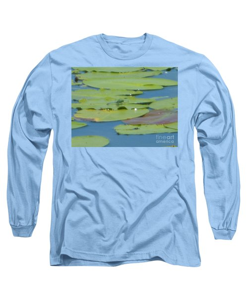 Dragonfly On Lily Pad Long Sleeve T-Shirt