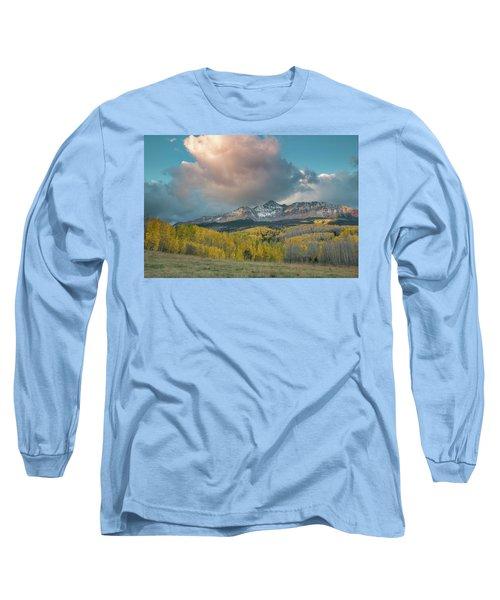 Dramatic Sunrise Over Wilson Peak Long Sleeve T-Shirt