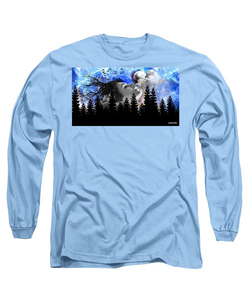 Dream Is The Space To Fly Farther Long Sleeve T-Shirt by Paulo Zerbato