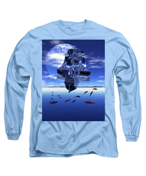 Long Sleeve T-Shirt featuring the digital art Dream Sea Voyager by Claude McCoy