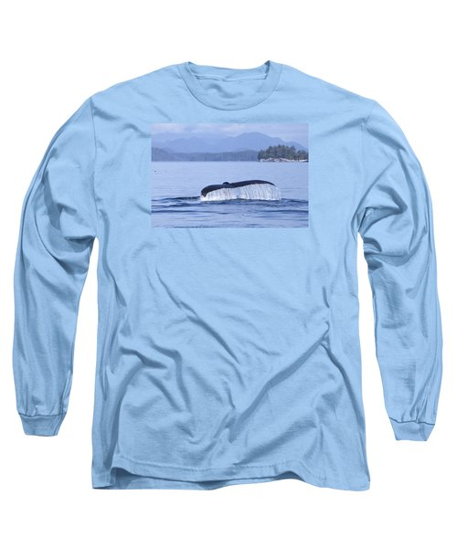 Long Sleeve T-Shirt featuring the photograph Dripping Whale Fluke by Michele Cornelius