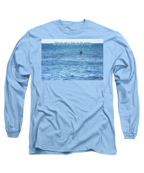 Drop In The Ocean Surfer  Long Sleeve T-Shirt by Terry DeLuco