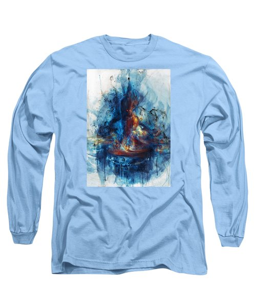 Drum Long Sleeve T-Shirt by Te Hu