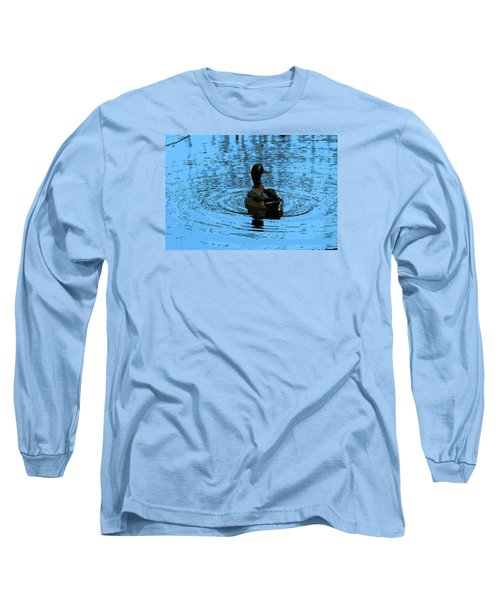 Duck Looking To The Right Long Sleeve T-Shirt by John Rossman