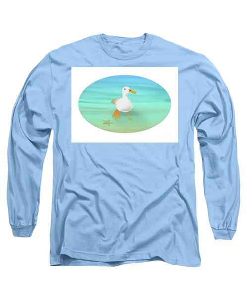 Duck Paddling At The Seaside Long Sleeve T-Shirt