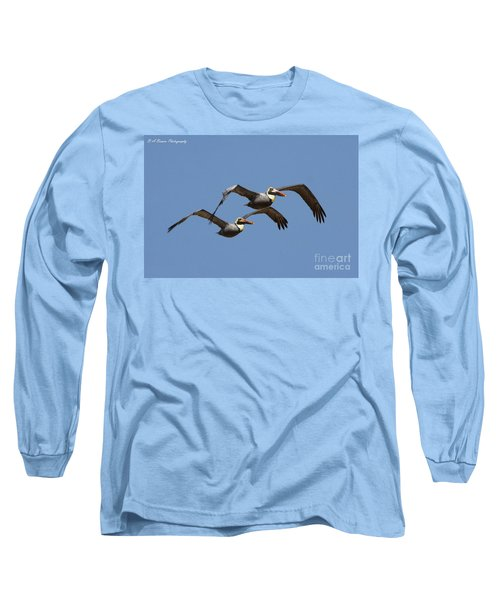 Duel Pelicans In Flight Long Sleeve T-Shirt