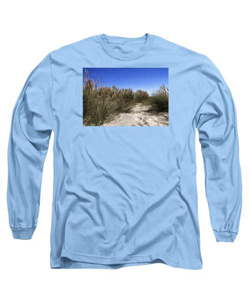 Dune Grasses Long Sleeve T-Shirt by Shirley Mitchell