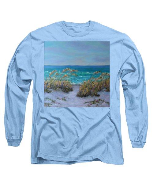 Dunes Path Ocean Painting Part 1 Long Sleeve T-Shirt