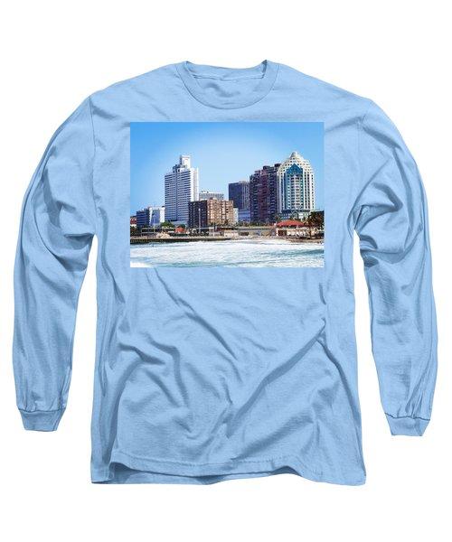 Durban Skyline From Bay Of Plenty Long Sleeve T-Shirt