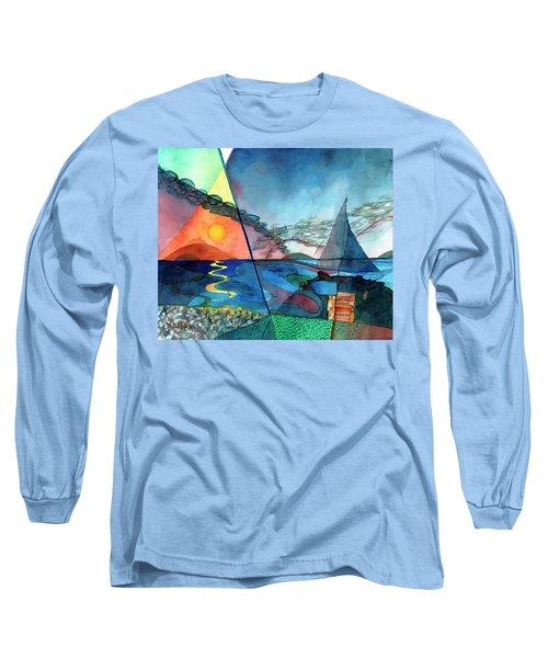 Dusk Over The Chesapeake Long Sleeve T-Shirt