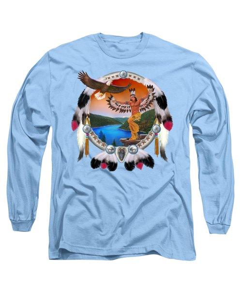 Eagle Dancer Long Sleeve T-Shirt by Glenn Holbrook