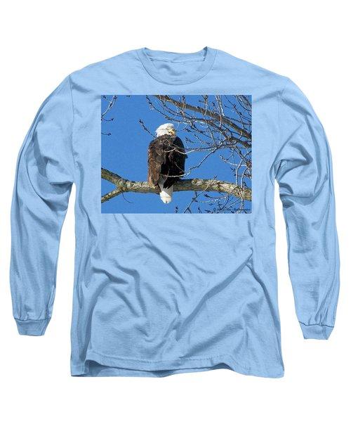 Eagle Watch Long Sleeve T-Shirt by Sue Stefanowicz