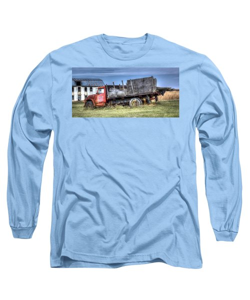 Long Sleeve T-Shirt featuring the photograph Earl Latsha Lumber Company - Version 1 by Shelley Neff