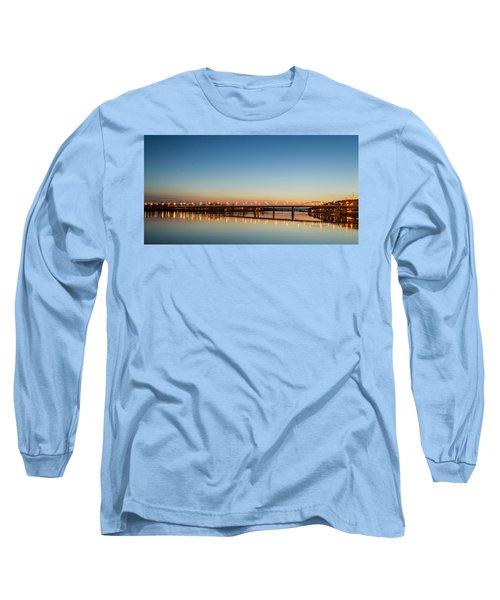 Early Evening Bridge At Sunset Long Sleeve T-Shirt