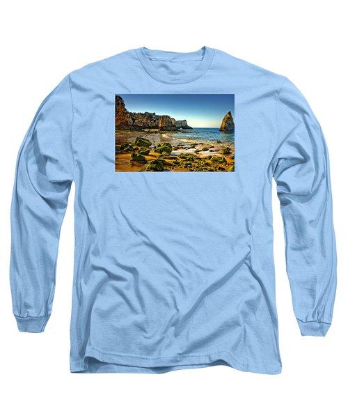 Long Sleeve T-Shirt featuring the photograph Early Morning Alvor Beach by Brian Tarr