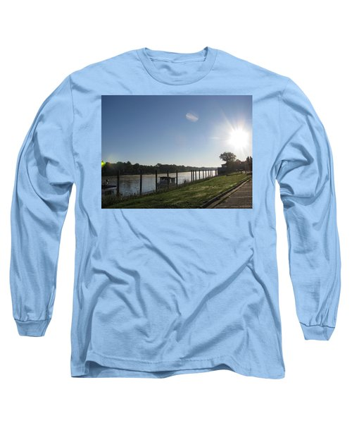 Early Morning On The Savannah River Long Sleeve T-Shirt by Donna Brown