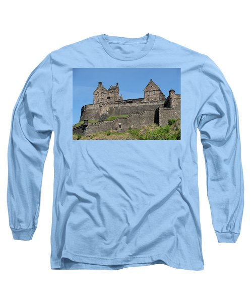 Long Sleeve T-Shirt featuring the photograph Edinburgh Castle by Jeremy Lavender Photography