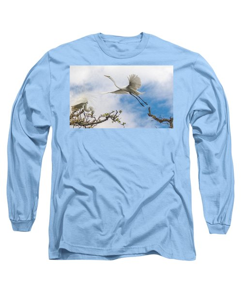 Egret Grace Long Sleeve T-Shirt