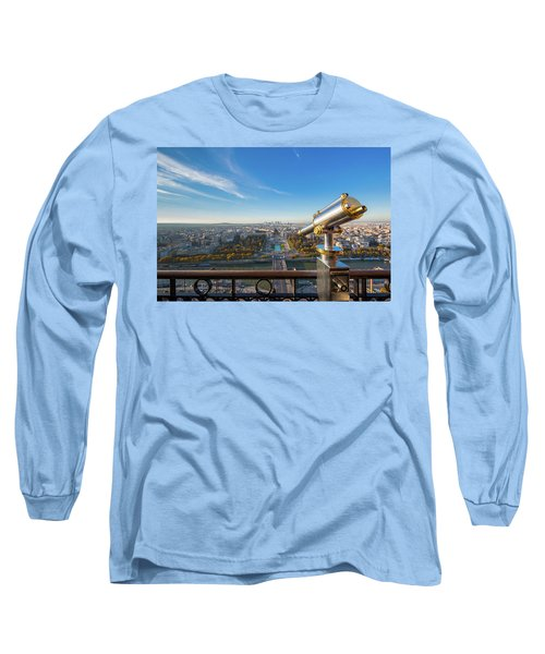 Eiffel Tower Telescope Long Sleeve T-Shirt