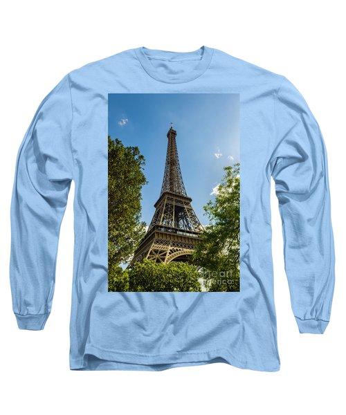Eiffel Tower Through Trees Long Sleeve T-Shirt